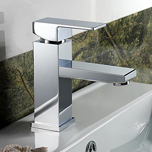 WP- All-in rame rubinetto del bagno singolo foro bacino caldo e freddo piazza rubinetto rubinetto del bagno