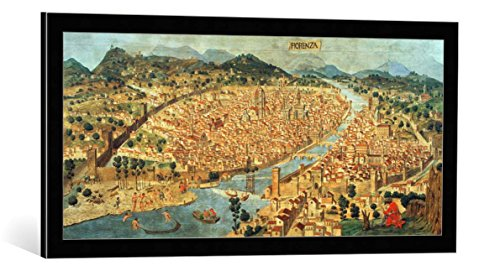 framed-art-print-italian-school-the-carta-della-catena-showing-a-panorama-of-florence-1490-decorativ