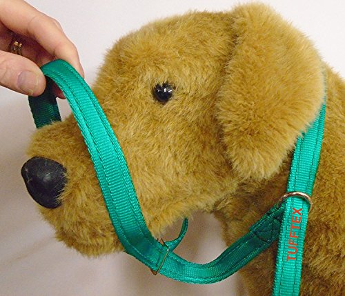 (BLACK) FIGURE OF EIGHT 3 IN ONE DOG HEADCOLLAR and slip lead made from Airweb Cushion  Web stops pulling dog puppy 3 in 1 lead