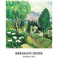 Hermann Hesse Föhn Poster Bild Kunstdruck mit Alu Rahmen in schwarz 60x50cm Antiquitäten & Kunst Kunstplakate