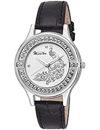 Roman Star Women's N-1145 Silver Coloured With Black Leather Strap Analog Quartz Watch