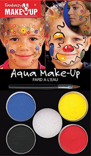 Kreul Fantasy Aqua Make Up Picture Blumen/Ballons, 1er Pack (1 x 7 Stück) (Lustige Familie, Die Halloween-traditionen)