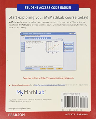 Mathematics in Action + Mymathlab/Mystatlab Student Access Card: An Introduction to Algebraic, Graphical and Numerical Problem Solving, Books a La Carte Edition