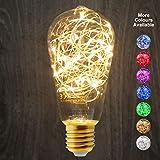 1W St58industriels à LED décoratifs ampoule colorée Guirlande lumineuse à filament E27, Chaud, E27, 1.00W 240.00V