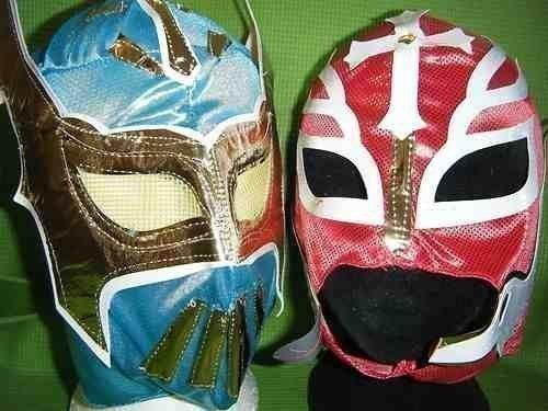 RINGER MASKE MASKEN SIN CARA BLAU UND ROT REY MYSTERIO WWE KOSTÜM VERKLEIDEN OUTFIT KINDER KLEIDUNG KLEIDUNG MEXIKANISCH LUCHA LIBRE PARTY NEU (Sin Cara Kostüm Blau)