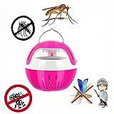 Trada Moskito Mörder Licht 5W USB, Intelligente Optisch kontrollierte Insekten-Tötungs-Lampe Moskito-Killer LED Insektenlampe Mückenbekämpfung Lampe Mückenfalle durch Reine (Rosa)