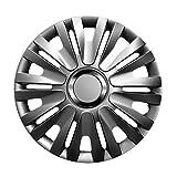 16 Zoll Radzierblenden DELTA GRAPHIT (Grau) passend für fast alle Fahrzeugtypen
