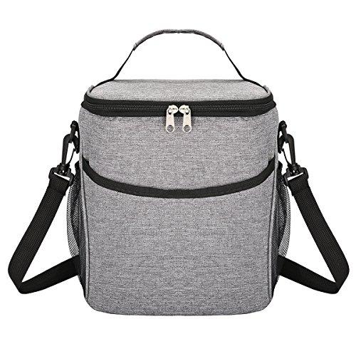 Godmorn Picknicktasche Mittagessen Tasche Thermotasche Kühltasche Wasserdicht Lunch Tasche 9L für Lebensmitteltransport - Mittagessen-tasche Sport