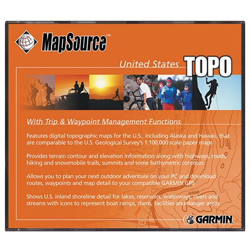 Garmin MapSource Topo. 2006USA Karte CD-ROM (Windows) Mapsource-software