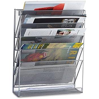Relaxdays 10022508 55 porta riviste depliant da parete a4 for Giornali arredamento casa