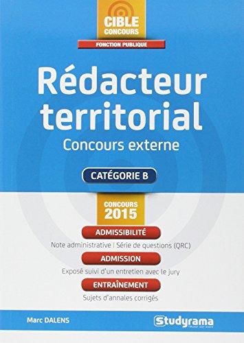 Rédacteur territorial, concours externe