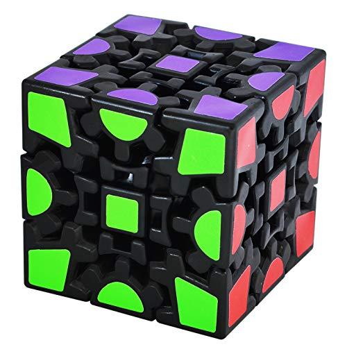 Maomaoyu Cubo de 3X3 3x3x3 de Engranajes Gear Cube 3D Puzzle Magico Cubo de la Velocidad Negro