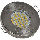Einbaustrahler Aqua IP65 | 230Volt GU10 5Watt LED Leuchtmittel warmweiss - 450Lumen | Bad - Sauna - Vordach - Keller - Nass- Feuchtraum