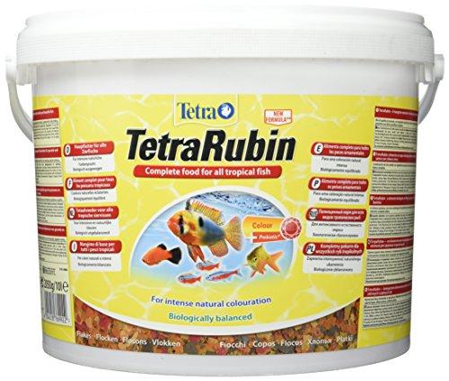 TetraRubin (Hauptfutter mit natürlichen Farbverstärkern für Zierfische, für intensive Farbenpracht, plus Präbiotika für verbesserte Körperfunktionen und Futterverwertung), 10 Liter Eimer