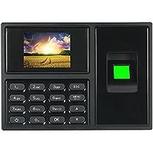 KKmoon Máquina de Asistencia de Contraseña de Huellas Dactilares Inteligente Biométrico Registrador de Registro de Empleados