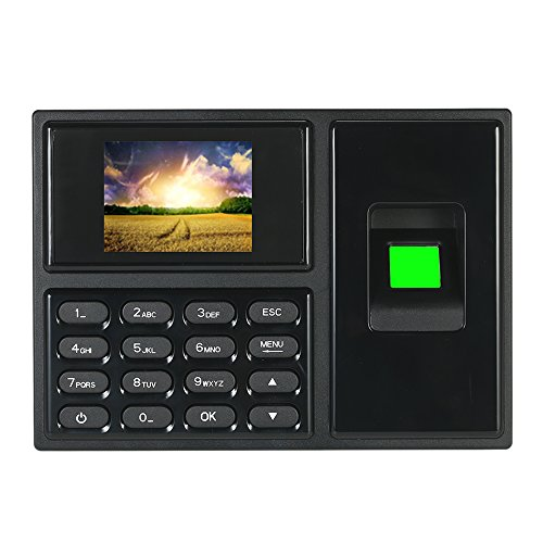KKmoon Biometrico Intelligente Password Di Impronte Digitali Macchina Di Presenza Registratore Di Controllo Dei Dipendenti 2,4 Pollici Schermo LCD TFT DC 5V