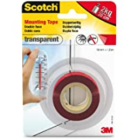 3M Scotch 40041915 - Cinta adhesiva de doble cara, transparente