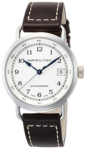 HAMILTON WOMEN'S 36MM BROWN LEATHER BAND STEEL CASE AUTOMATIC WATCH H78215553