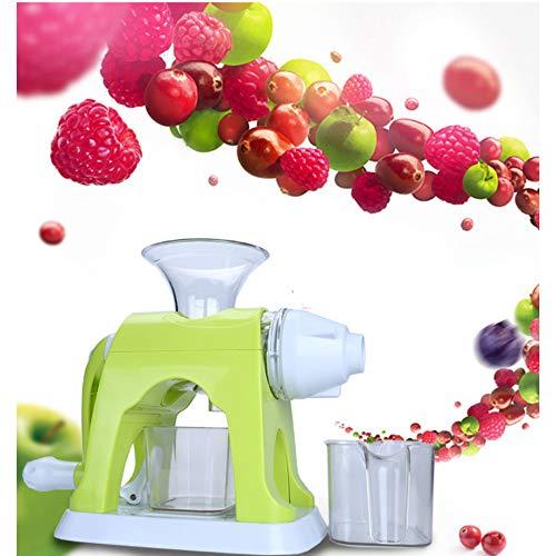 HJSS Handkranke Juiker-Juisektrikalmaschine halbautomatische Fruchtsaftmaschine Multifunktionell Apfelzitronensaft-Extraktionswerkzeug Material Lebensmittel in der Qualität (grün + weiß)