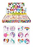 Henbrandt 24 X Girls UNICORN Temporary Tattoos Childrens Birthday Party Bag Filler