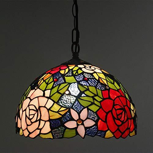 Tiffany Lampe Rose Set Tischlampe Pendelleuchte Stehleuchte TLS-037,12InchPendantLight