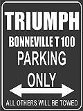 Parkplatz - Parking Only - Triumph Bonneville T 100 - Parkplatzschild