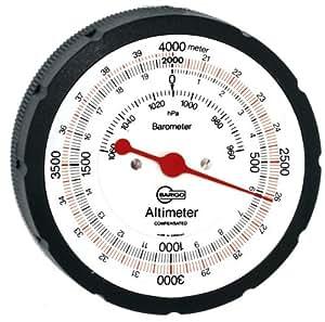 Barigo Modell 29, 4000 M Analog, Höhenmesser, Barometer, mit Ledertasche