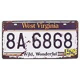 West Virginia 8A-6868, nosotros Auto matrícula, muestra de pared decorativos