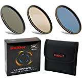 DolDer X-PRO II Digital MC 77mm Set de 3 piezas de filtro de densidad neutral ND8 ND64 ND1000 77mm