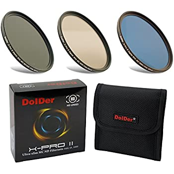 Dolder X-Pro II Digital MC Neutral Graufilter Set bestehend aus ND8, ND64, ND1000 Filtern 58mm (16 Layers) Neutral Graufilter Set, ND Filtersets Multicoated & HD