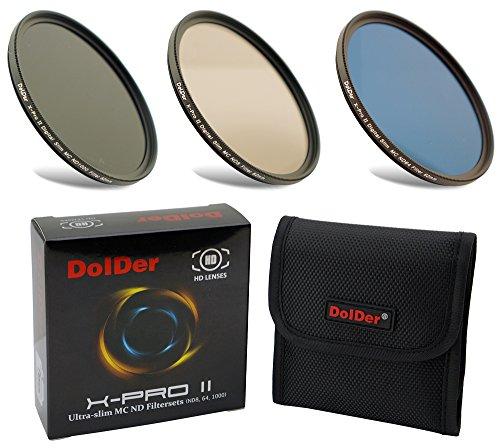 Dolder X-Pro II Digital MC Neutral Graufilter Set bestehend aus ND8, ND64, ND1000 Filtern 77mm (16 Layers) Neutral Graufilter Set, ND Filtersets Multicoated & HD