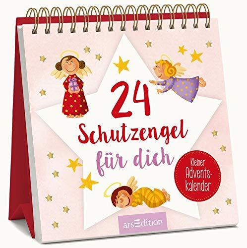 24 Schutzengel für dich - Kleiner Adventskalender: Kleiner Aufsteller als liebes Schutzengel-Geschenk in der Adventszeit