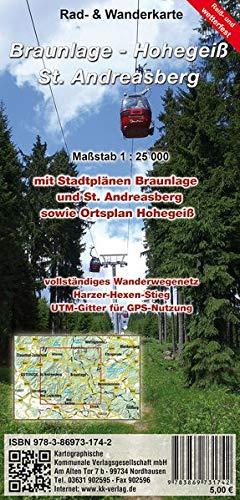 Preisvergleich Produktbild Braunlage - Hohegeiß - Sankt Andreasberg: Rad- und Wanderkarte (wetterfest)