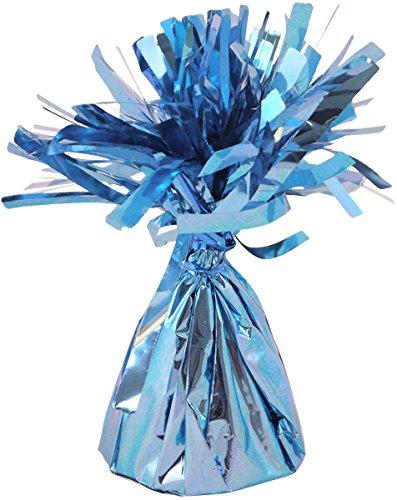 Helium Ballon Gewichte Baby Blau Folien Fransen Kegel - 12 Stück