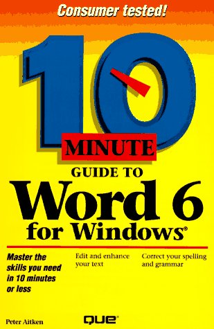10 Minute Guide to Word for Windows 6