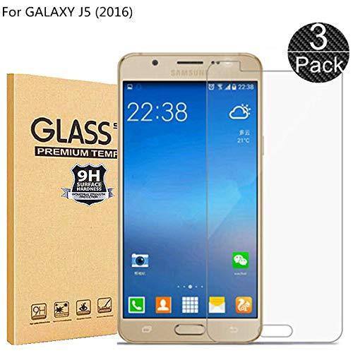 RUIST Samsung J5 2016 Schutzfolien,Panzerglas Samsung J5 2016,[3 Stück] Schutzglas Panzerschutz Folie Glas 9H [2.5D] Panzerfolie Glasfolie Displayschutz für Samsung Galaxy J5 2016 J510