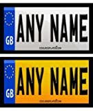 Coolrideplates® 90 X 50mm Personalised Rear Number Plate Self-Adhesive Stickers designed for Little Tikes Cozy Coupe *SIMPLY ADD A GIFT MESSAGE WITH THE NAME, COLOUR COMBO, AND DOB REQUIRED WHEN ORDERING*
