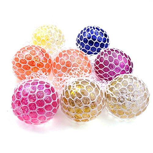 Vent-stress-ball (Sylvia qer Neuheit Squishy Mesh Kugeln Kristall Grape Form Stress Ball Squeeze Stress Kombination Vent Spielzeug für Kinder und Erwachsene)
