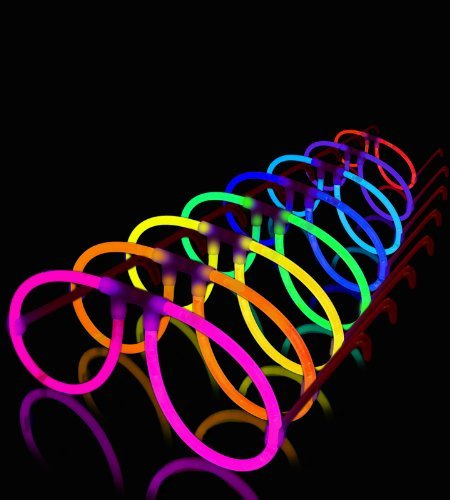 50 Aviator Glow Eyeglasses - 8 Color Assorted Mix, Lumistick by Lumistick