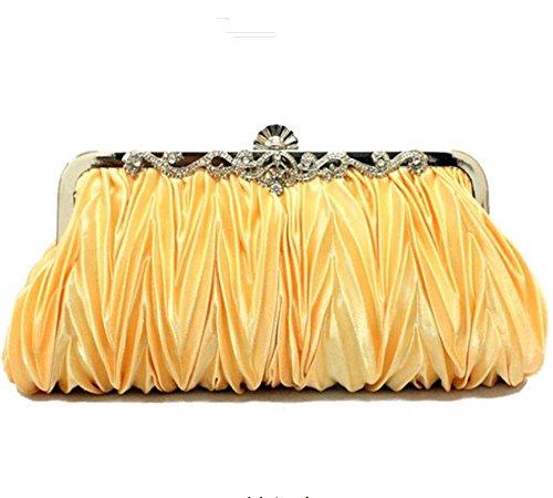Eysee, Damen Clutch Putrefazione Champagnerfarben 27cm * 11cm * 5cm Oro