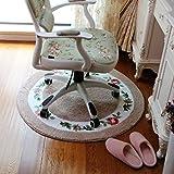 Good thing tappeto Soggiorno Tappetino da letto Tappeto da camera da letto Rotondo Sedie da computer Tappetino da spiaggia Tappetino girevole Cuscino in vimini ( Colore : B , dimensioni : 70*70cm )