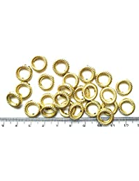 Matte Gold Finish Ring Beads For Jewellery Making, Craft Works, Pack Of 200 Nos