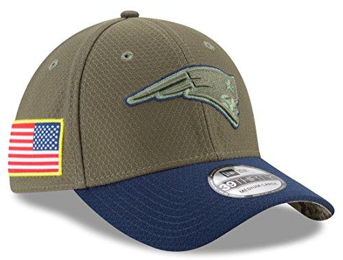 "New England Patriots New Era NFL 39THIRTY 2017 Sideline ""Salute to Service"" Hat Hut"