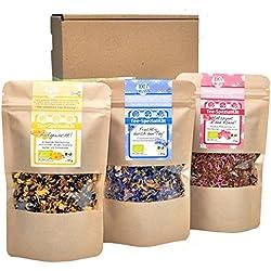direct&friendly Bio Geschenkset und Probierset dreierlei Tee für morgens, mittags und abends