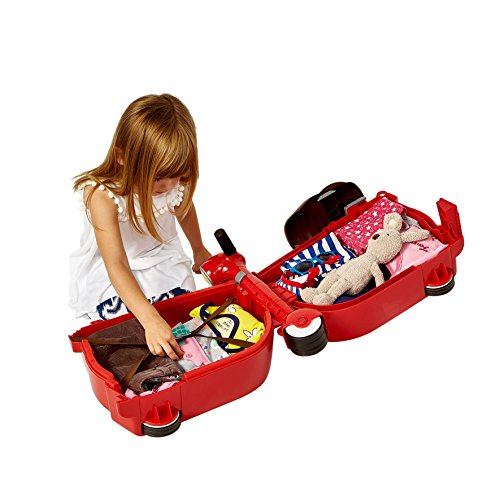 Skoot Kids' Ride-On Suitcase Children's Luggage, Red