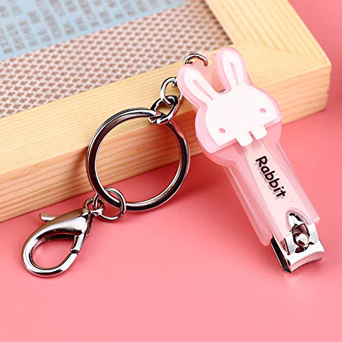 Schlüsselbund Anhänger Kreative Neue Gelee Nagelknipser Kaninchen Niedlichen Cartoon Nagel Messer Gadget Schlüssel Schnalle Tasche C -