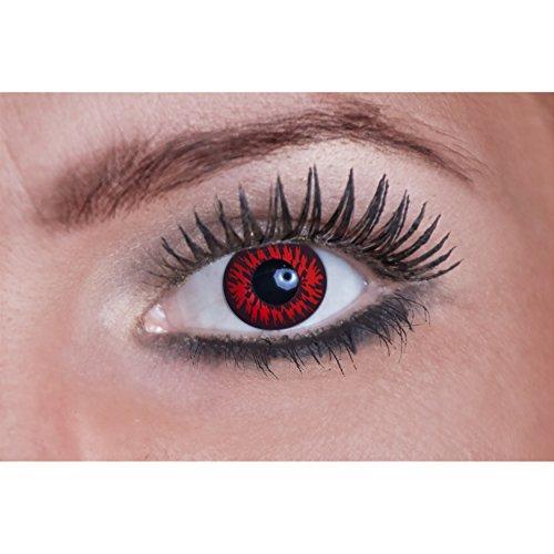 Eyecatcher Color Fun-Lenti a contatto colorate-Red/rosso Wolf (1x 2pezzi)