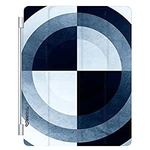 Enthopia Designer Front Smart Cover Bulls Eye for Apple Ipad 2/3/4 with Transparent Back Case