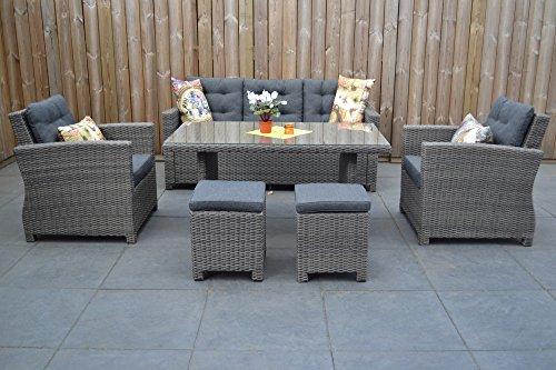 Di alta qualità da tavolo in grigio mobili da giardino in polyrattan