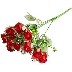 gzzebo Künstliche Rosenpflanze für Zuhause, Büro, Party, Dekoration, Foto-Requisiten rot